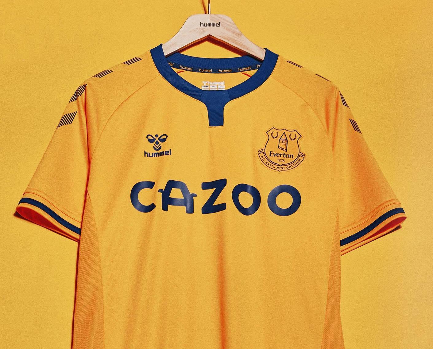 Maillot de remplacement Everton 2020/21 Hummel | Image du site officiel