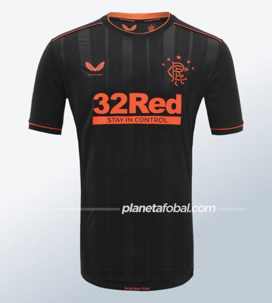 Tercera camiseta Castore del Rangers FC 2020/21 | Imagen Web Oficial