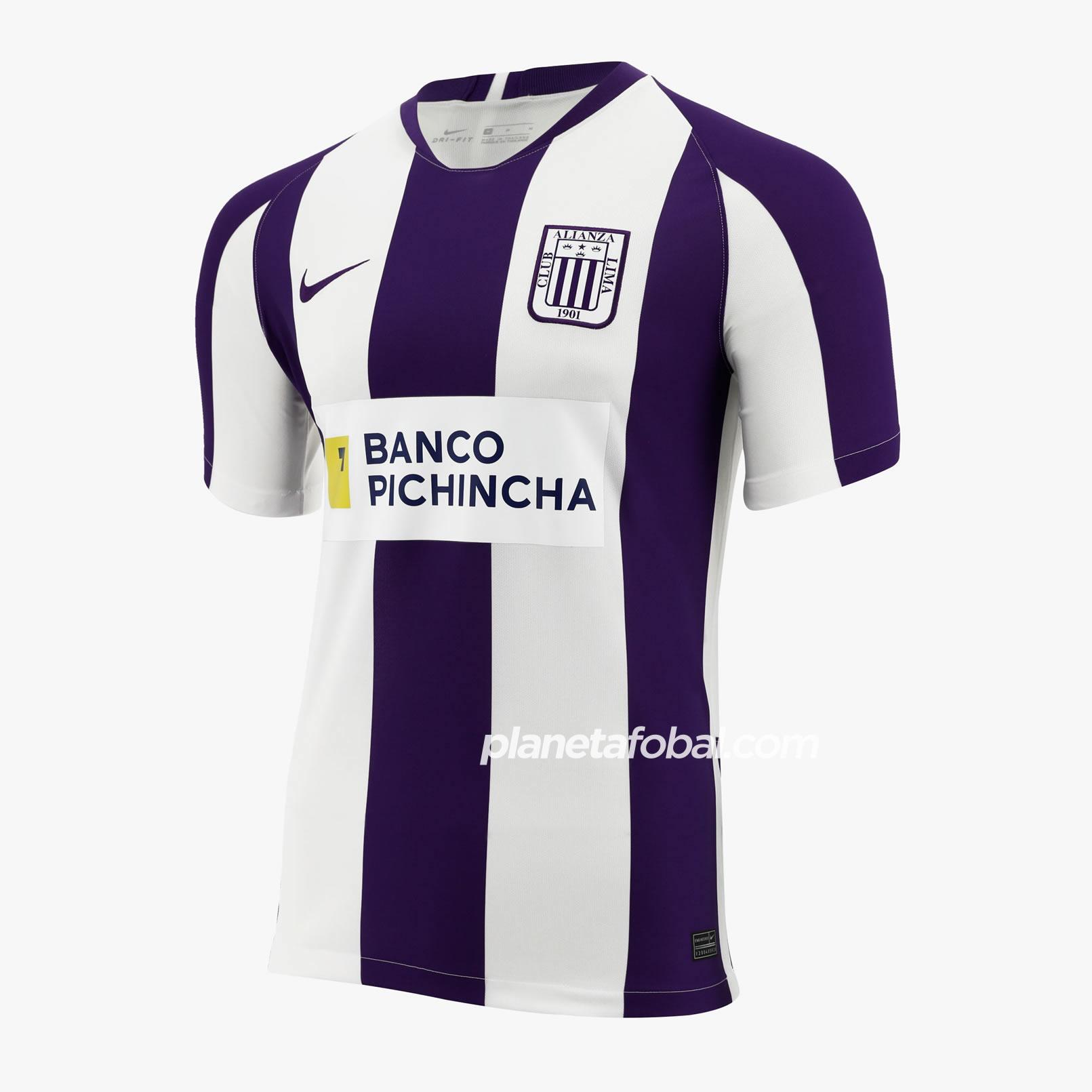 Camiseta Nike blanquimorada de Alianza Lima 2020 | Imagen Marathon