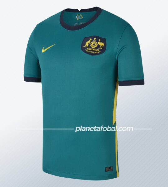 Camiseta visitante Nike de Australia 2020/2021 | Imagen Web Oficial