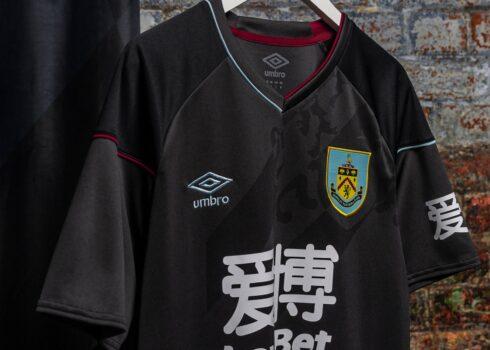 Camiseta suplente Umbro del Burnley FC 2020/21 | Imagen Web Oficial