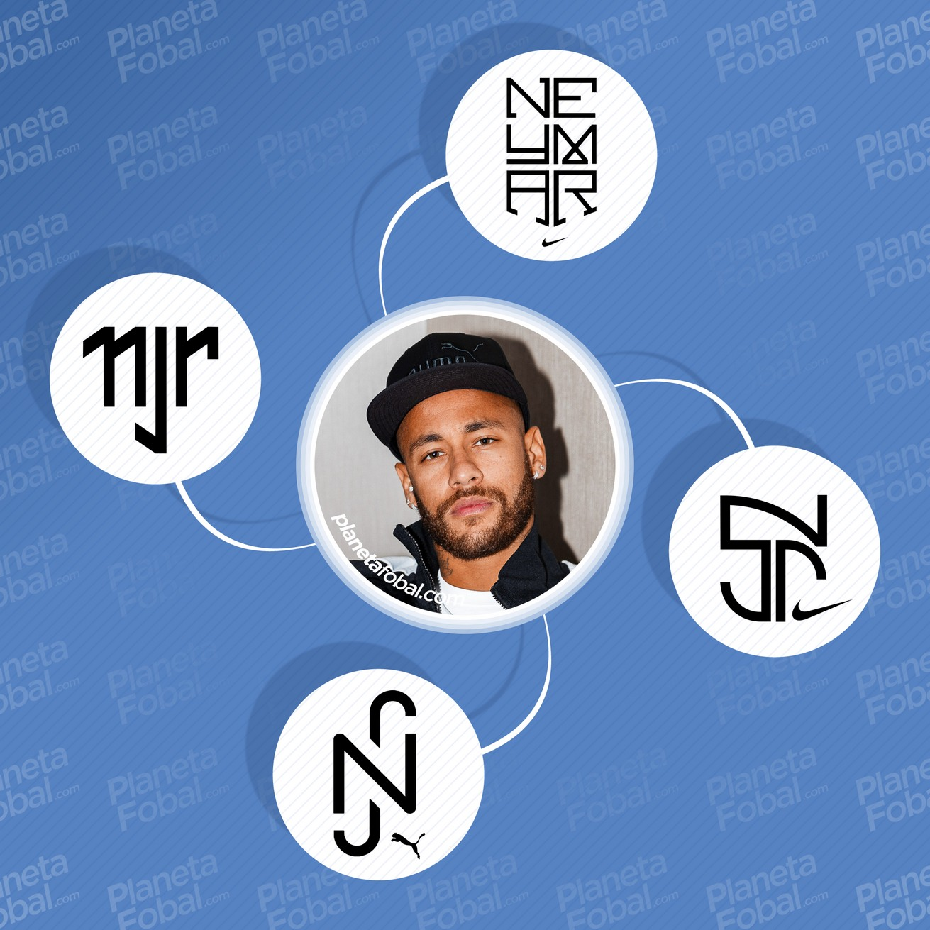 Los logos que usó Neymar Jr. en su carrera
