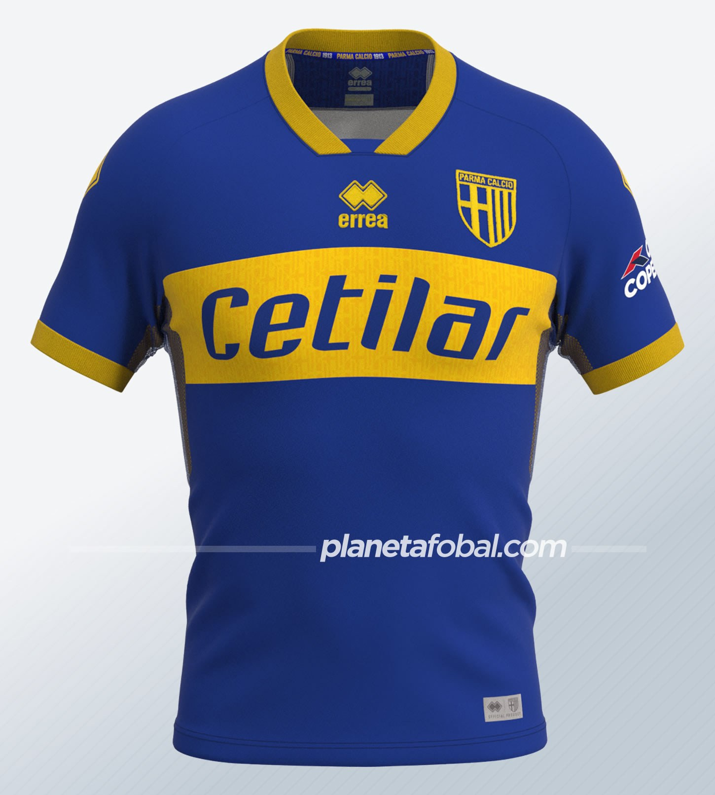 Camisetas suplentes Erreà del Parma Calcio 1913 2020/21   Imagen Web Oficial