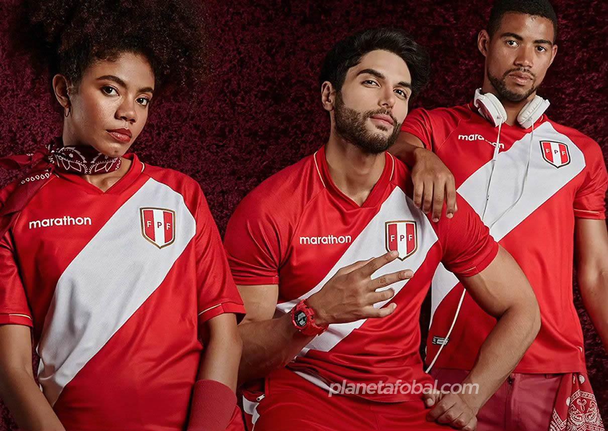 Camiseta visitante de Perú 2020/2021 | Imagen Marathon