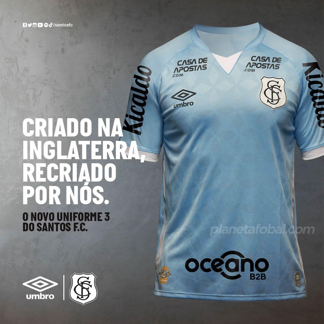 Tercera camiseta Umbro del Santos 2020/2021 | Imagen Twitter Oficial