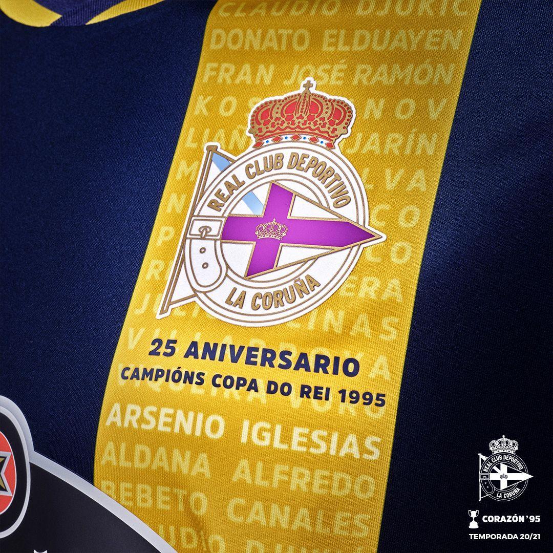 Camiseta suplente Macron del Deportivo La Coruña 2020/21 | Imagen Web Oficial