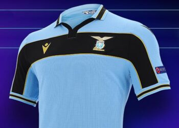 Camiseta Macron de la Lazio UCL 2020/2021 | Imagen Twitter Oficial