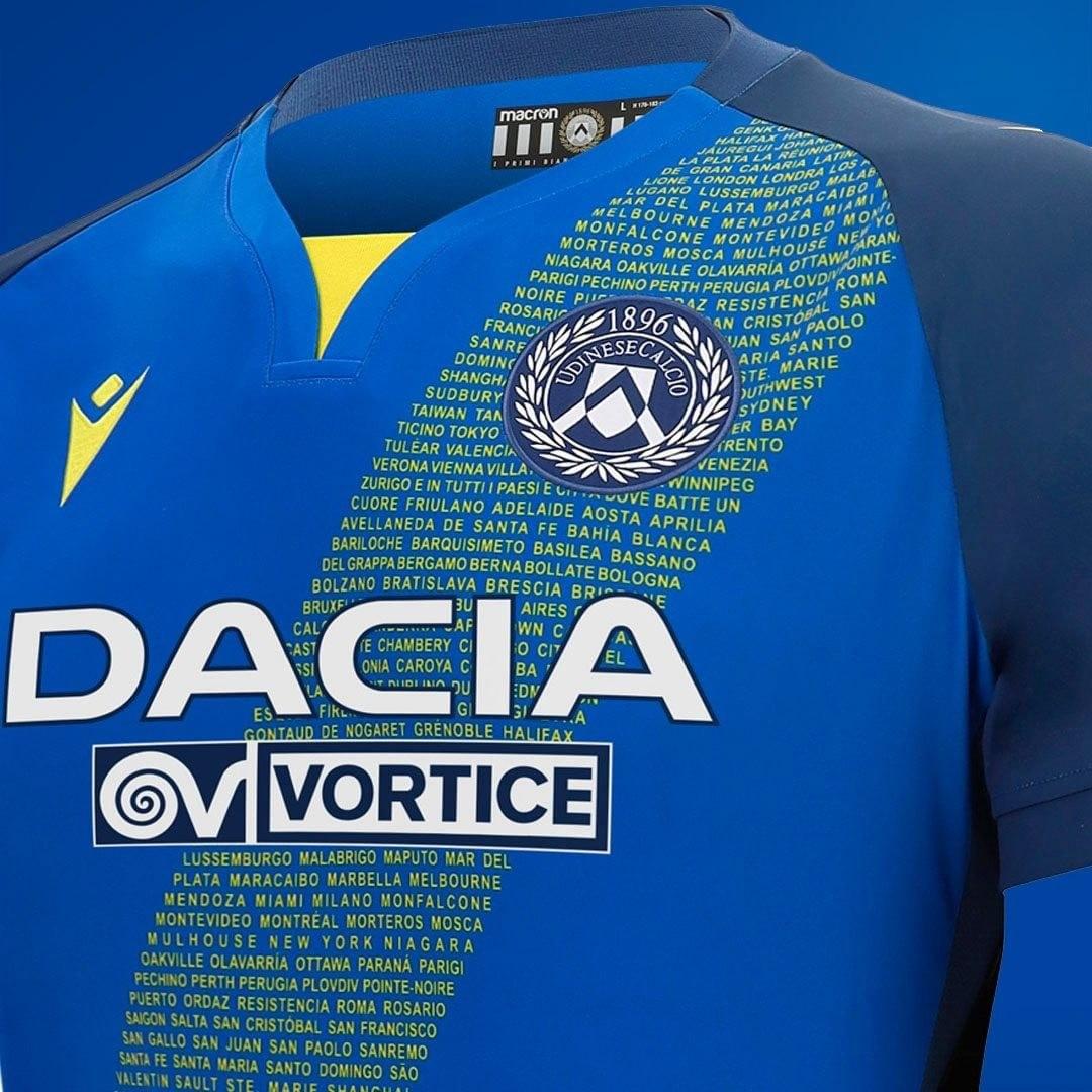 Camiseta suplente Macron del Udinese 2020/21   Imagen Web Oficial