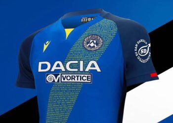 Camiseta suplente Macron del Udinese 2020/21 | Imagen Web Oficial