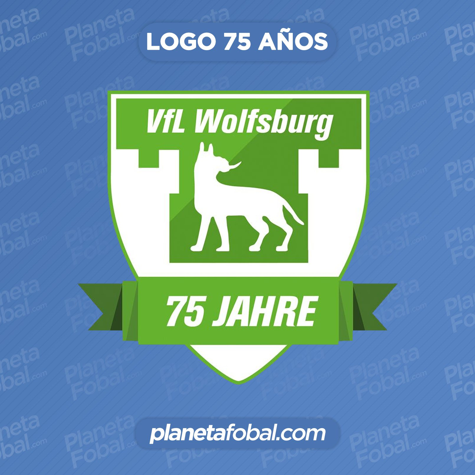 "Logo del VfL Wolfsburg ""75 Jahre"" | Imagen Web Oficial"