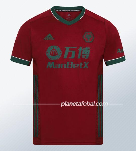 Tercera camiseta adidas del Wolverhampton 2020/21 | Imagen Web Oficial