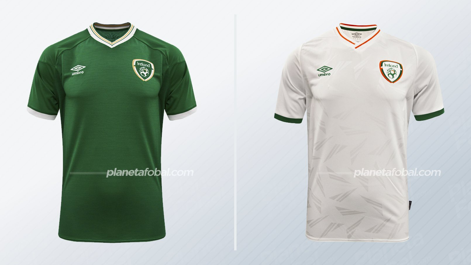Camisetas Umbro de Irlanda (Masculinas) 2020/2021   Imagen FAI