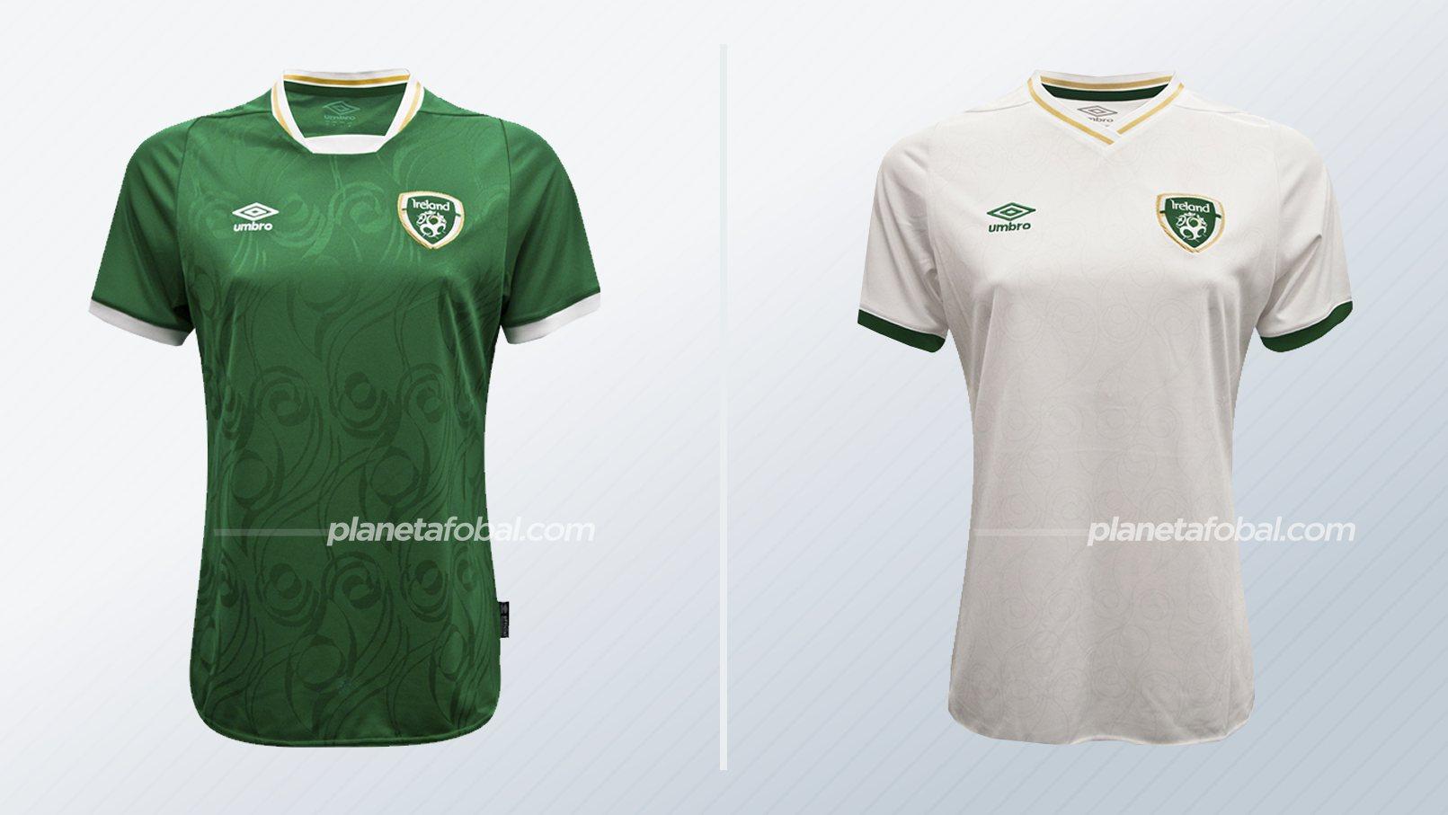 Camisetas Umbro de Irlanda (Femeninas) 2020/2021   Imagen FAI