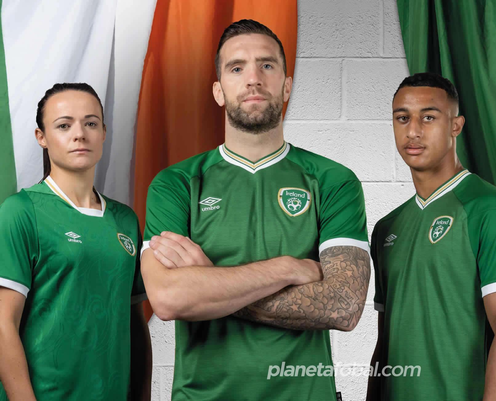 Camisetas Umbro de Irlanda 2020/21   Imagen FAI