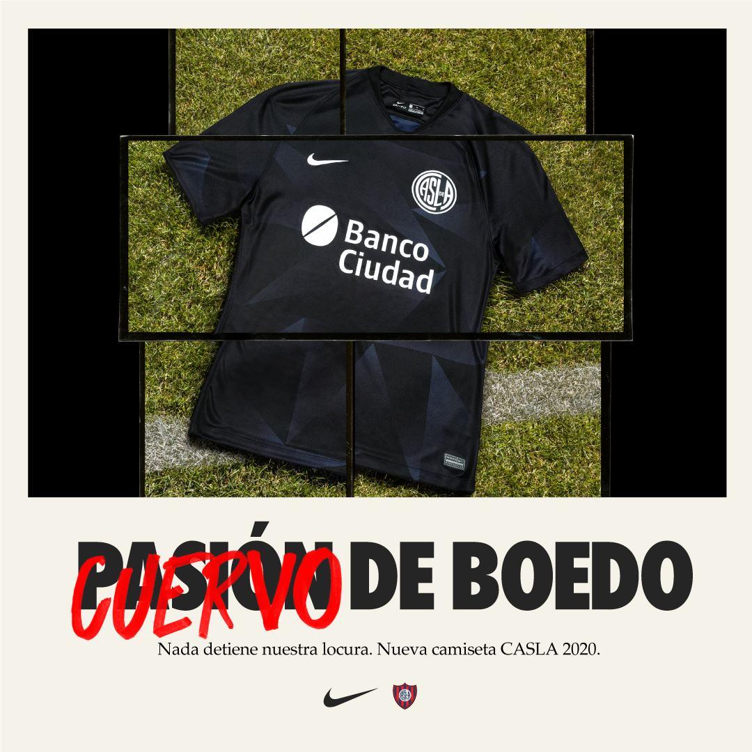 Tercera camiseta Nike de San Lorenzo 2020/2021   Imagen Web Oficial