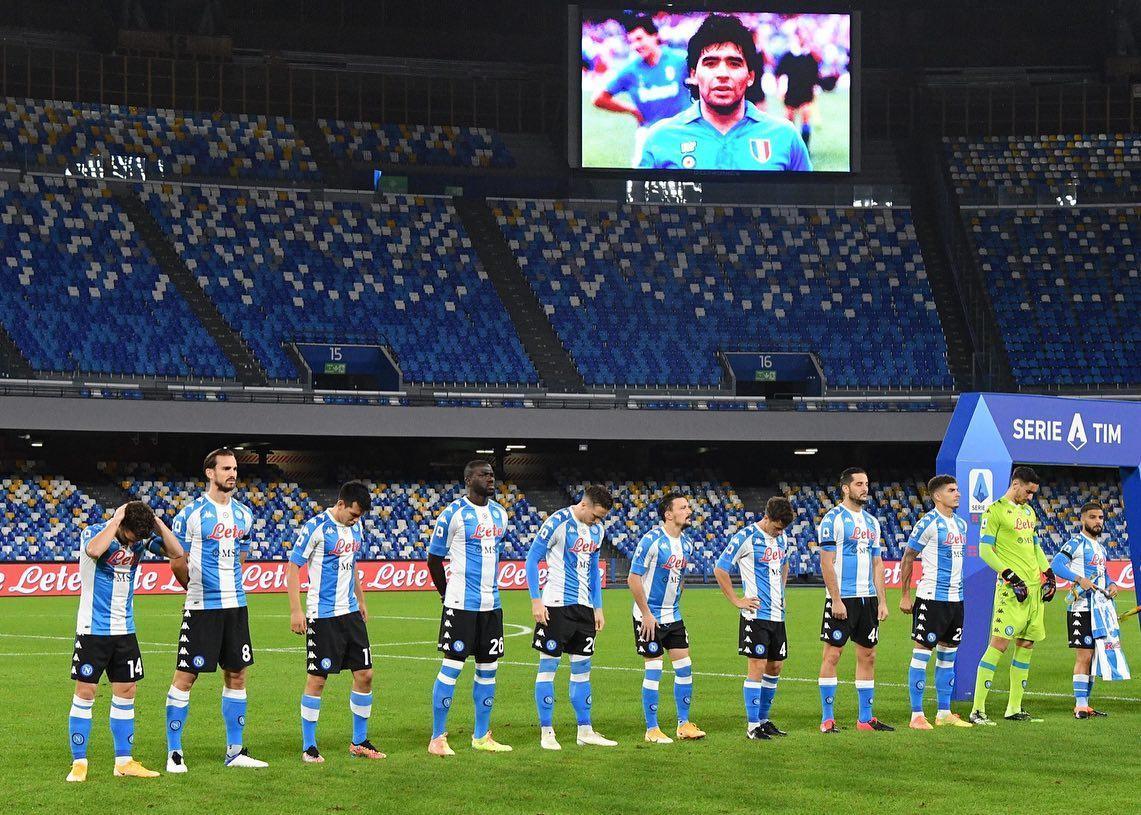 "Camiseta Kappa del Napoli ""Tributo a Maradona"" | Imagen Twitter Oficial"