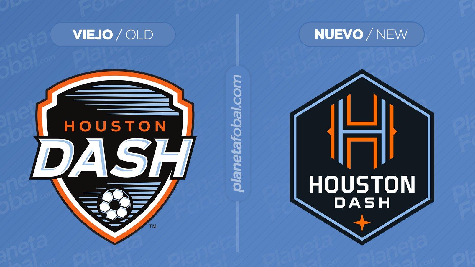 Antes y después del escudo del Houston Dash   Imagen Web Oficial