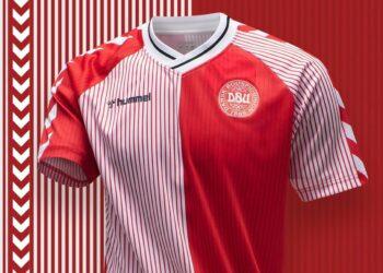 "Camiseta de Dinamarca 1986 ""Edición 2020"" | Imagen Hummel"
