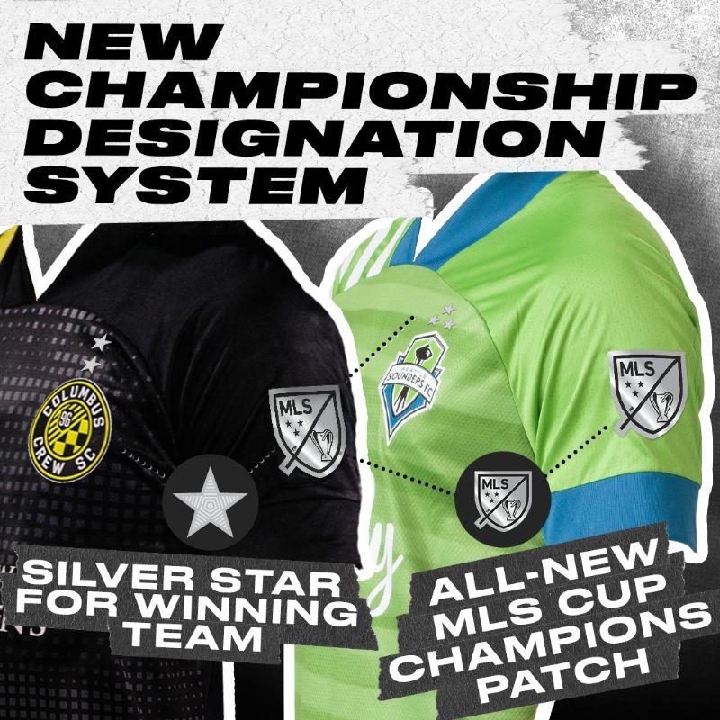 La MLS presenta nuevo parche de campeón y sistema de estrellas