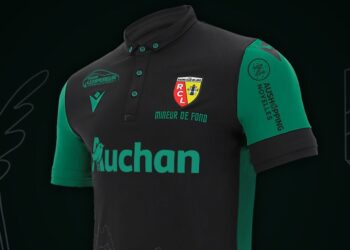 "Camiseta Macron del RC Lens ""Sainte-Barbe"" 2020 | Imagen Web Oficial"
