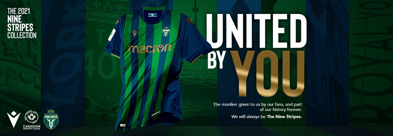 Nuevo camiseta Macron 2021 del York United Football Club | Imagen Web Oficial