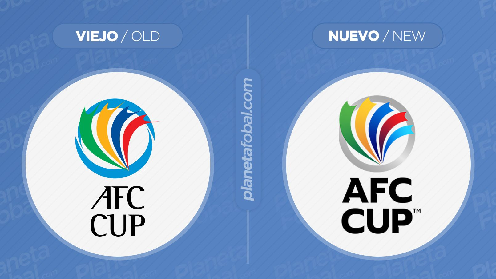 Antes y después del logo de la AFC Cup | Imagen Web Oficial