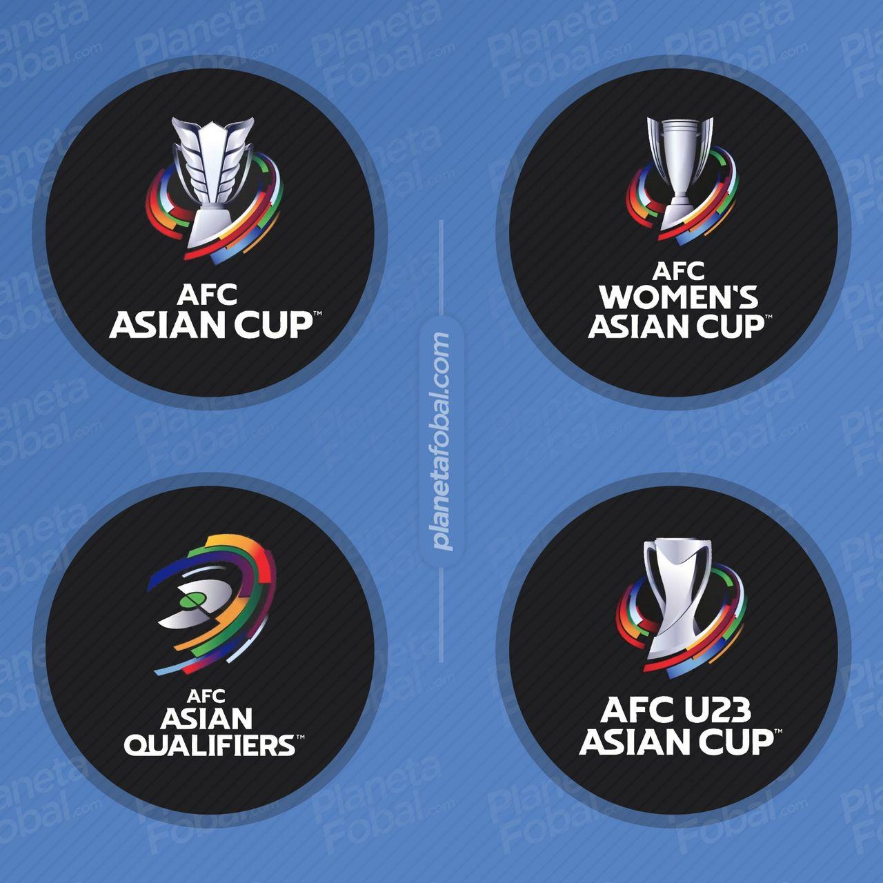 Logos de los torneos de selecciones de la AFC | Imagen Web Oficial