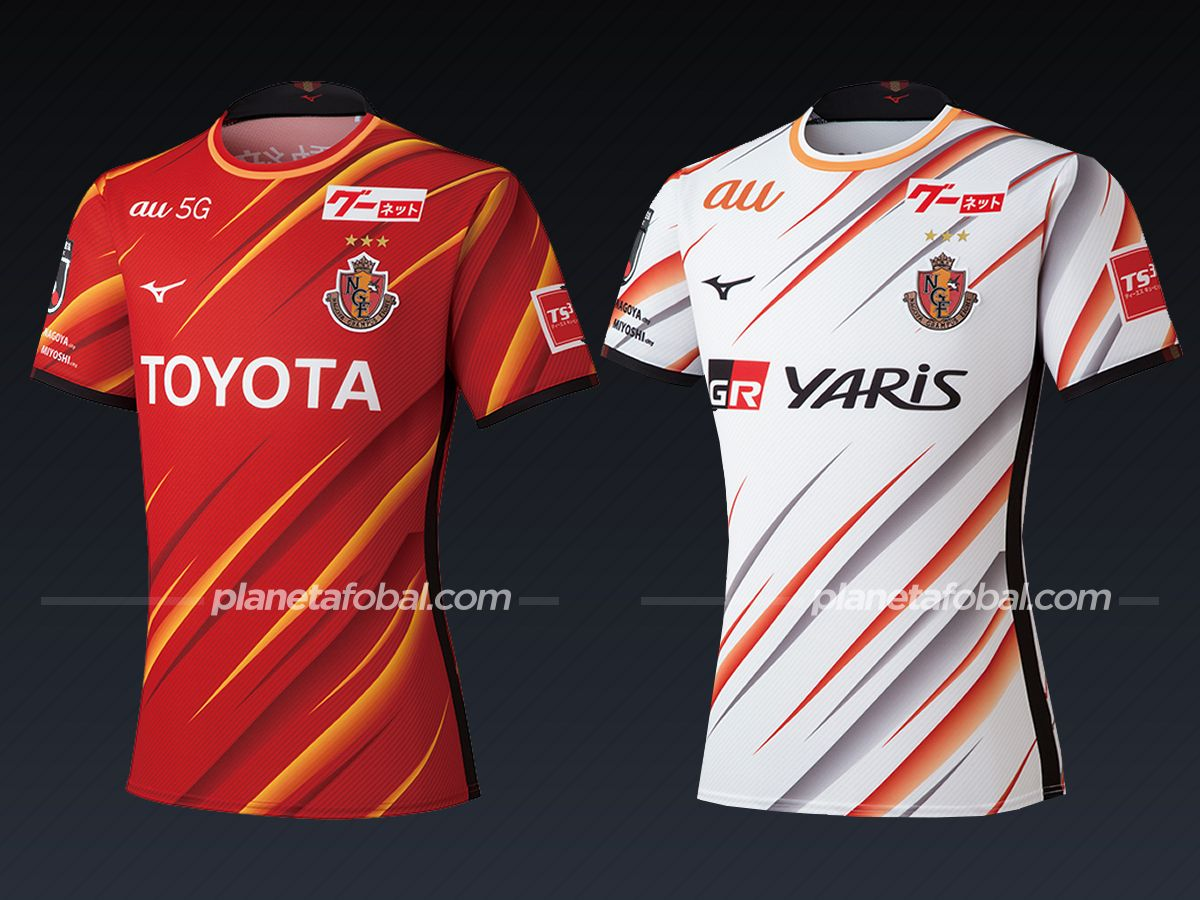 Nagoya Grampus (Mizuno) | Camisetas de la liga japonesa 2021