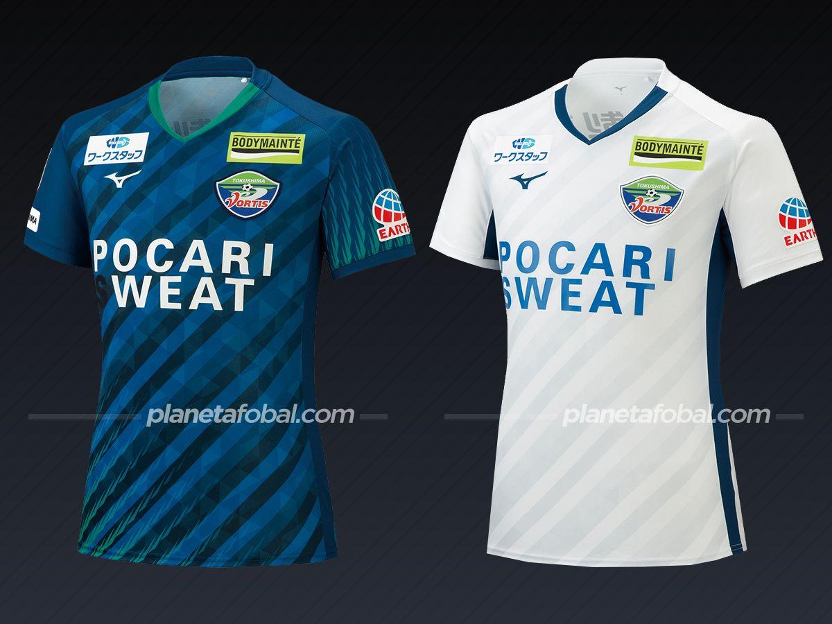 Tokushima Vortis (Mizuno) | Camisetas de la liga japonesa 2021