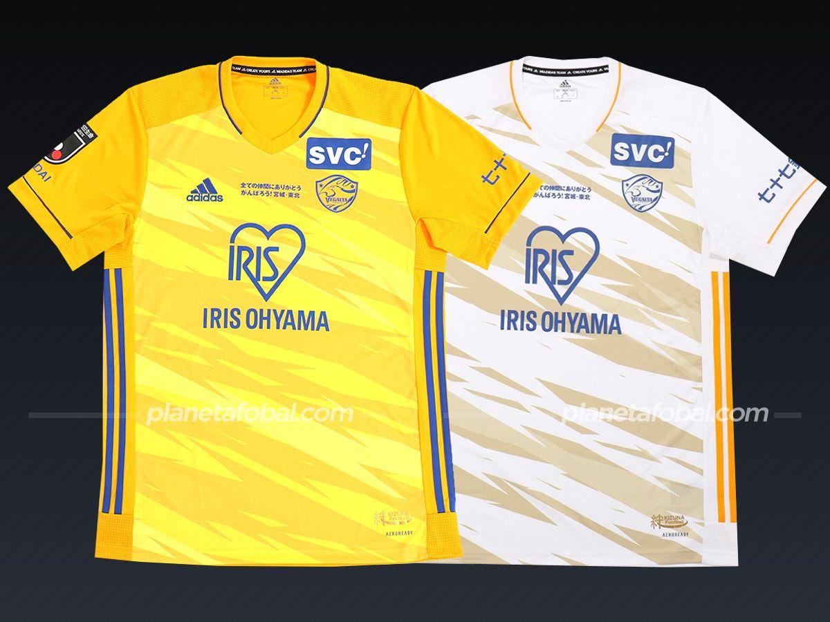 Vegalta Sendai (adidas) | Camisetas de la liga japonesa 2021