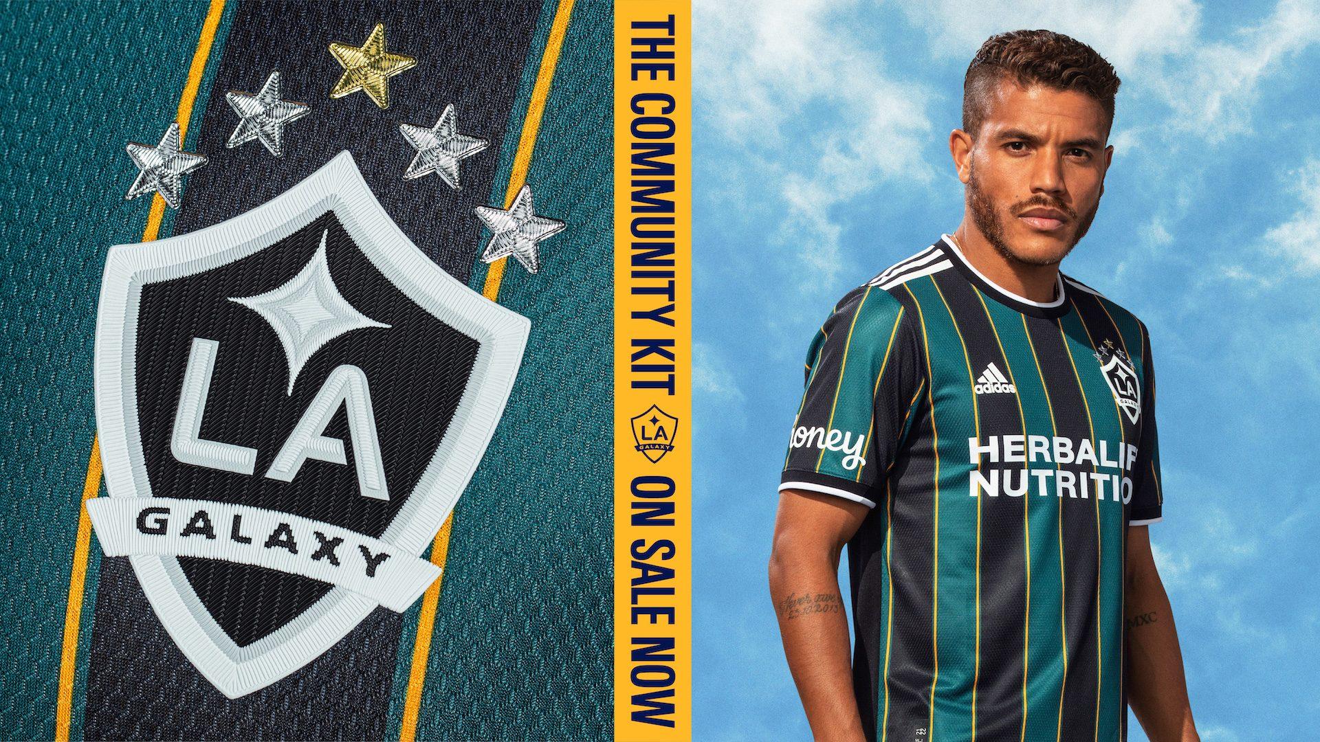 Camiseta suplente adidas de LA Galaxy 2021/22