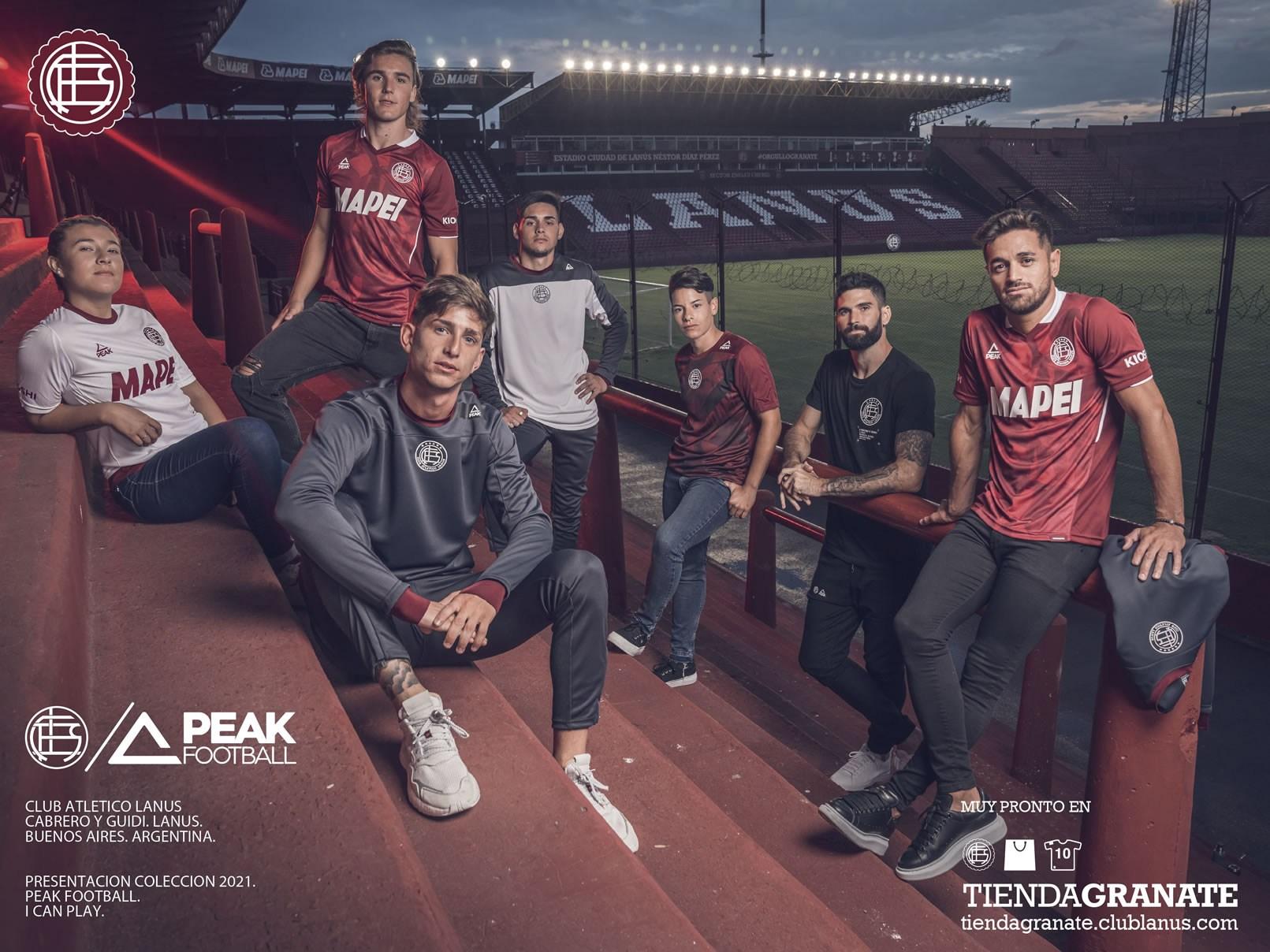 Camisetas Peak de Lanús 2021