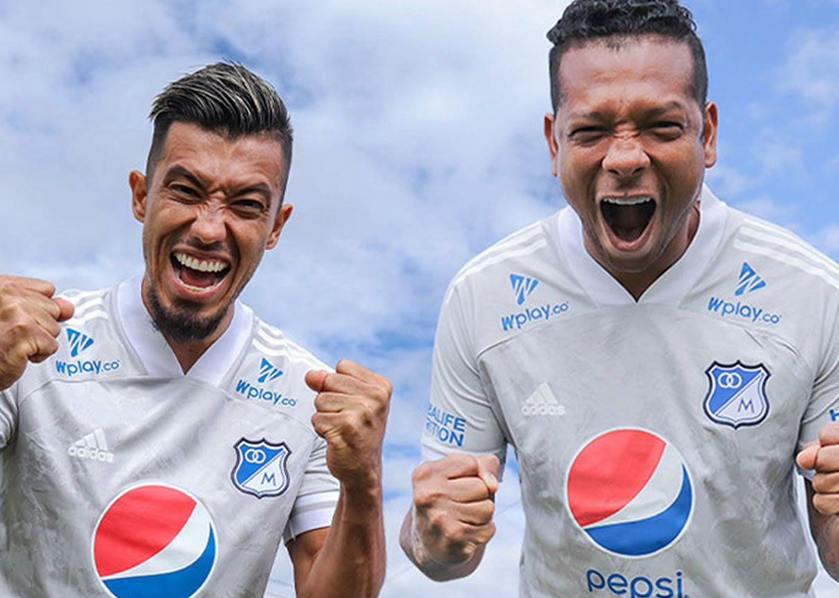 Camiseta visitante adidas de Millonarios 2021 | Imagen Twitter Oficial