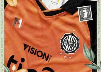 Camiseta naranja Meta Sports del Club Olimpia 2021