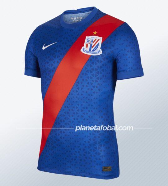 Camiseta titular del Shanghai Shenhua 2021 | Imagen Nike