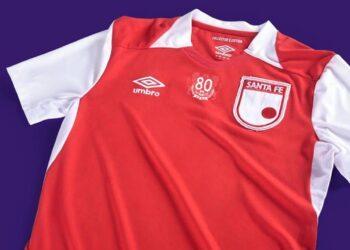 "Camiseta Umbro de Independiente Santa Fe ""80 Aniversario"""