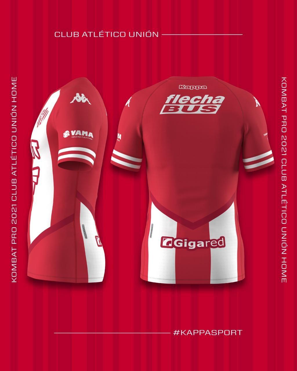 Camiseta titular Kappa de Unión 2021   Imagen Web Oficial