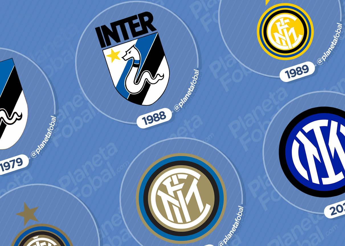 Evolución del escudo del Inter de Milán 1908 → 2021