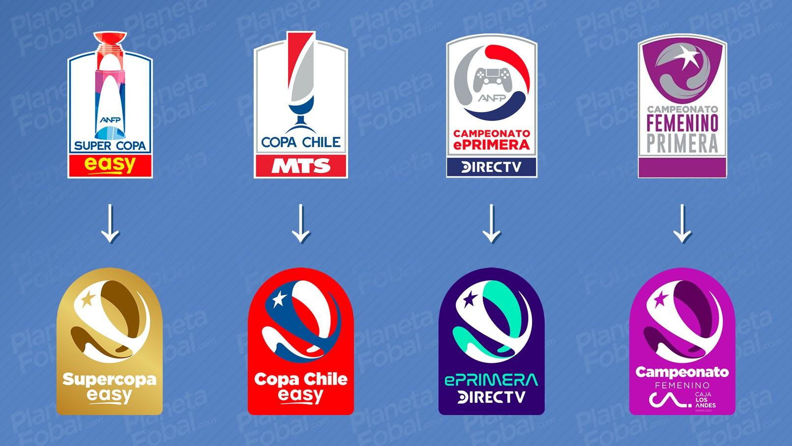 Nuevos logos Supercopa, Copa Chile, EPrimera y Campeonato Femenino | Imágenes ANFP