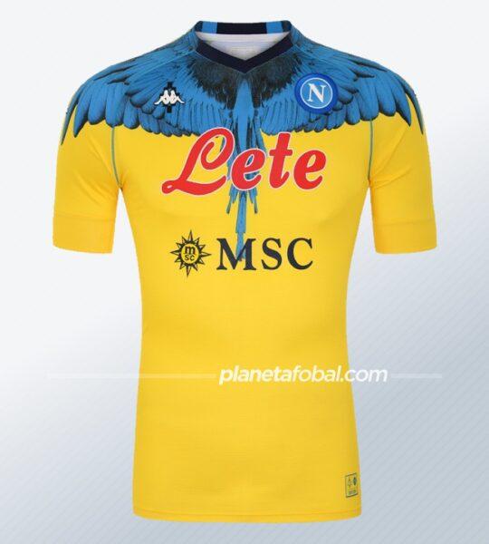 Camiseta Kappa del Napoli x Marcelo Burlon 2021   Imagen Web Oficial
