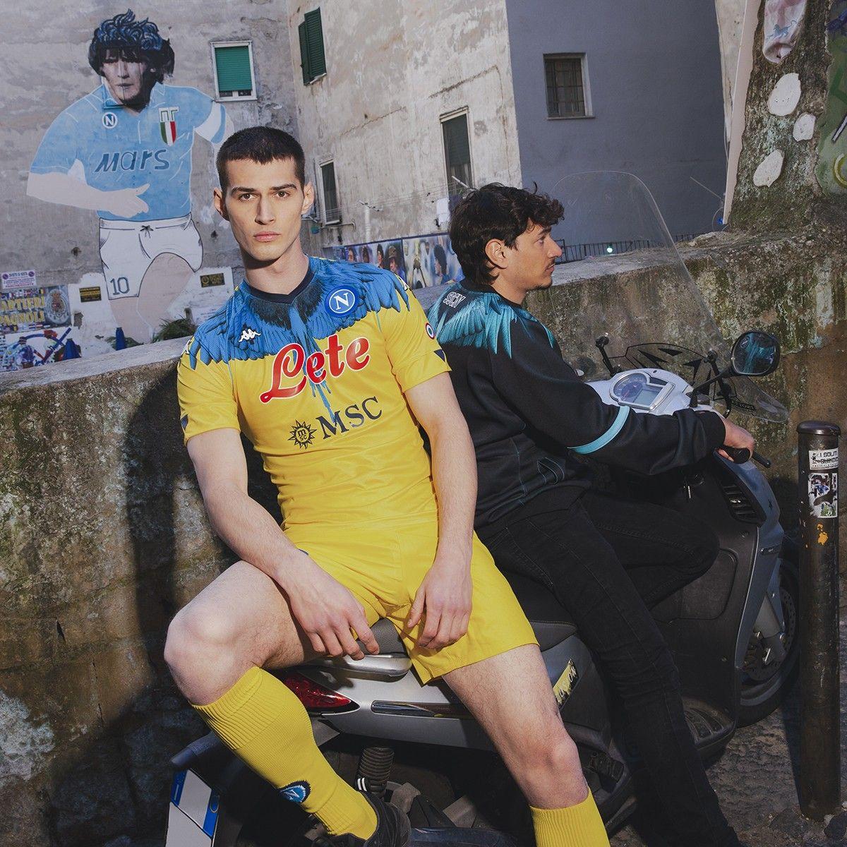 Camiseta Kappa del Napoli x Marcelo Burlon 2021