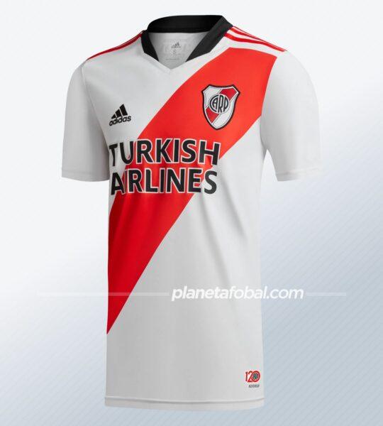 "Camiseta titular adidas de River 2021/12 ""120 Aniversario"" | Imagen Web Oficial"