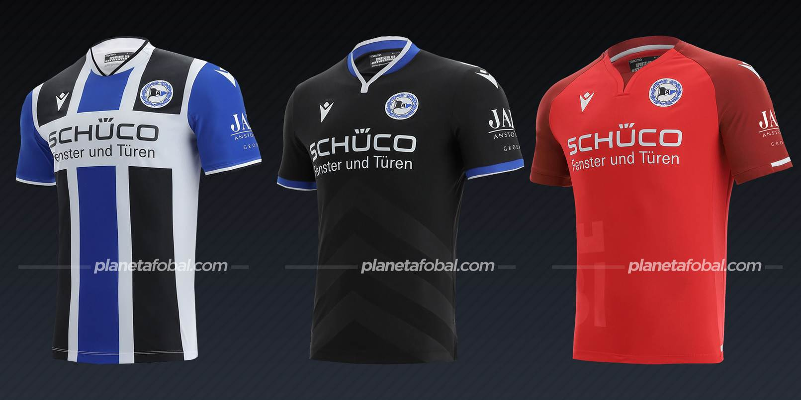 Arminia Bielefeld (Macron)   Camisetas de la Bundesliga 2021/22