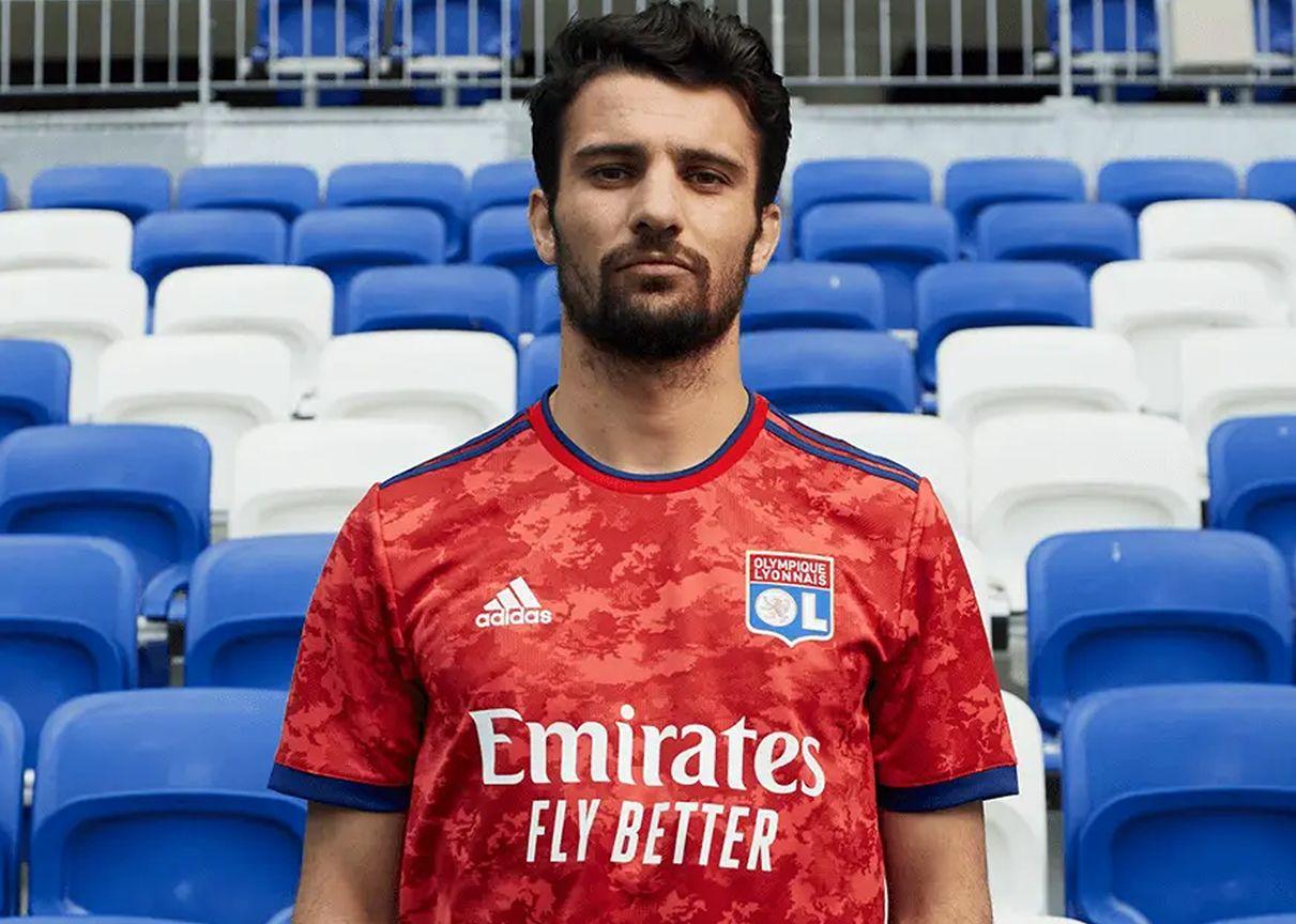 Camiseta visitante adidas del Lyon 2021/2022 | Imagen Web Oficial