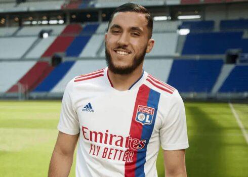 Camiseta titular adidas del Lyon 2021/2022   Imagen Web Oficial