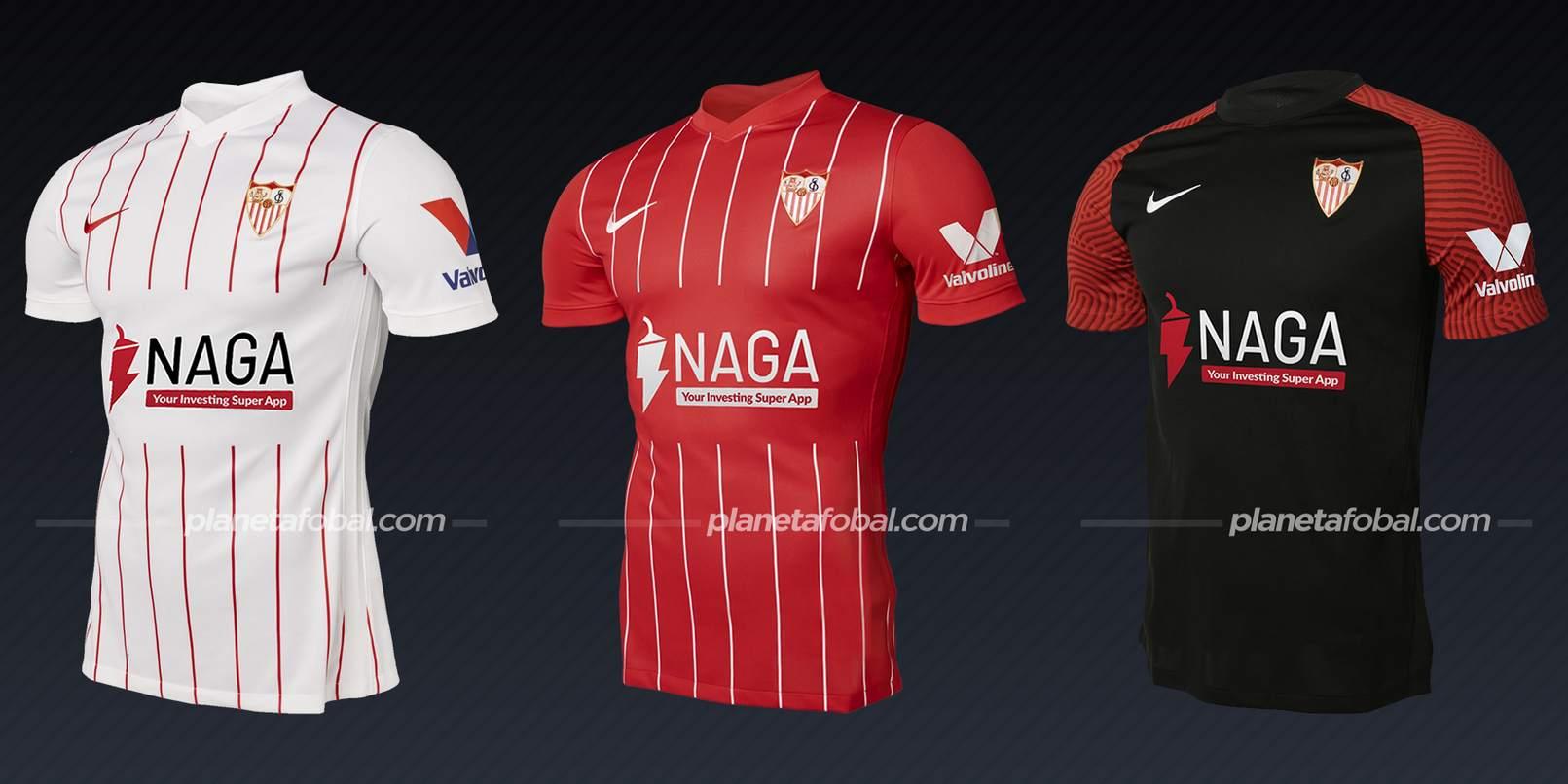 Sevilla (Nike)   Camisetas de LaLiga 2021/2022