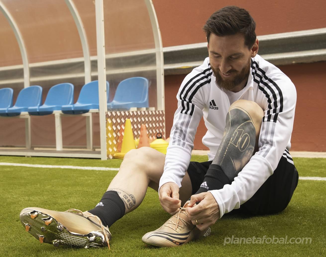 """Botines adidas de Lionel Messi """"El retorno"""" Copa América 2021"""