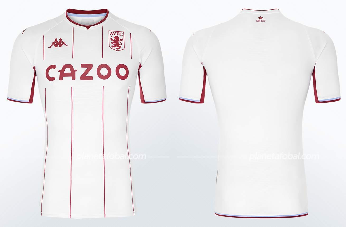 Camiseta suplente Kappa del Aston Villa 2021/22