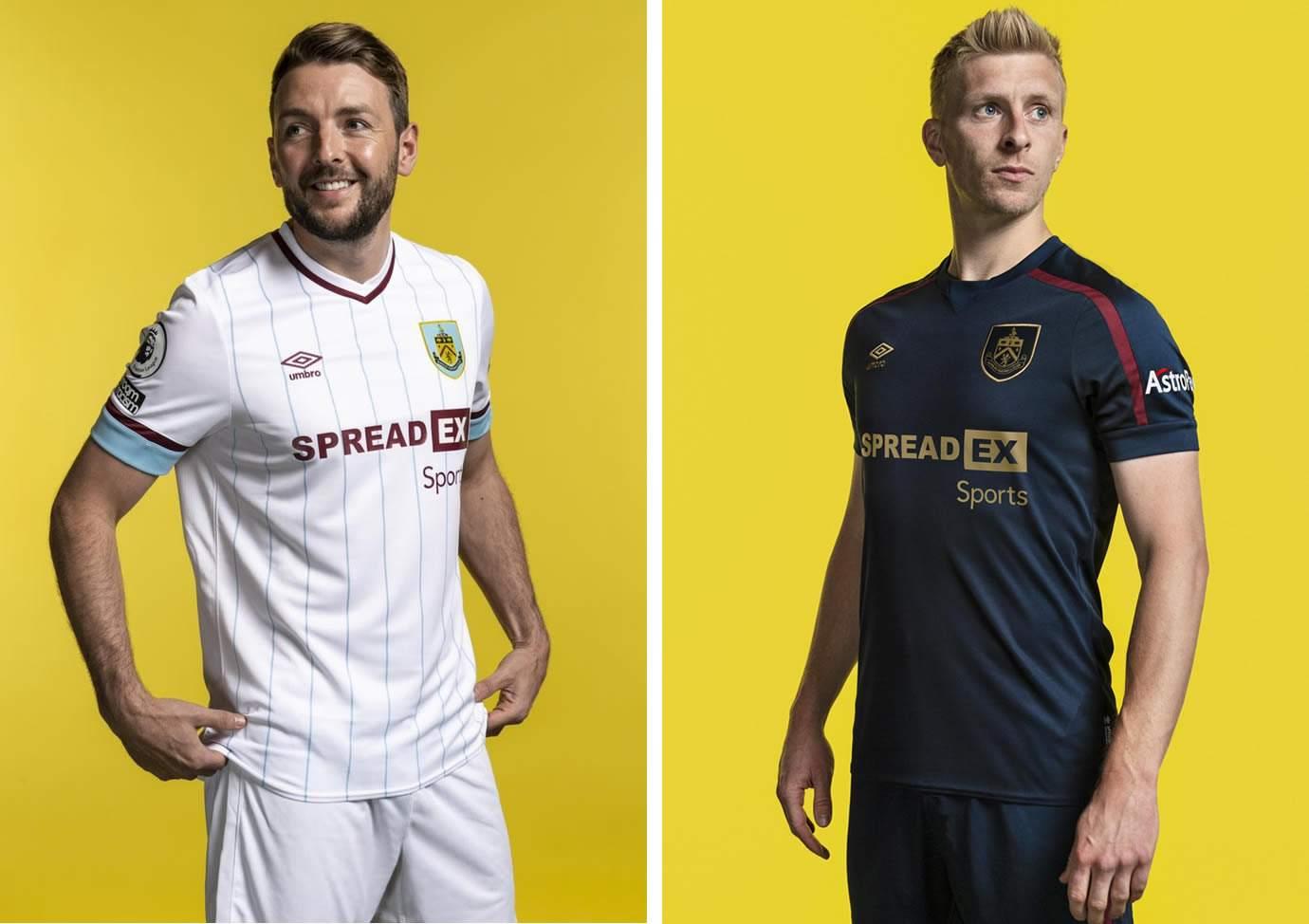Camiseta suplente y tercera Umbro del Burnley FC 2021/22