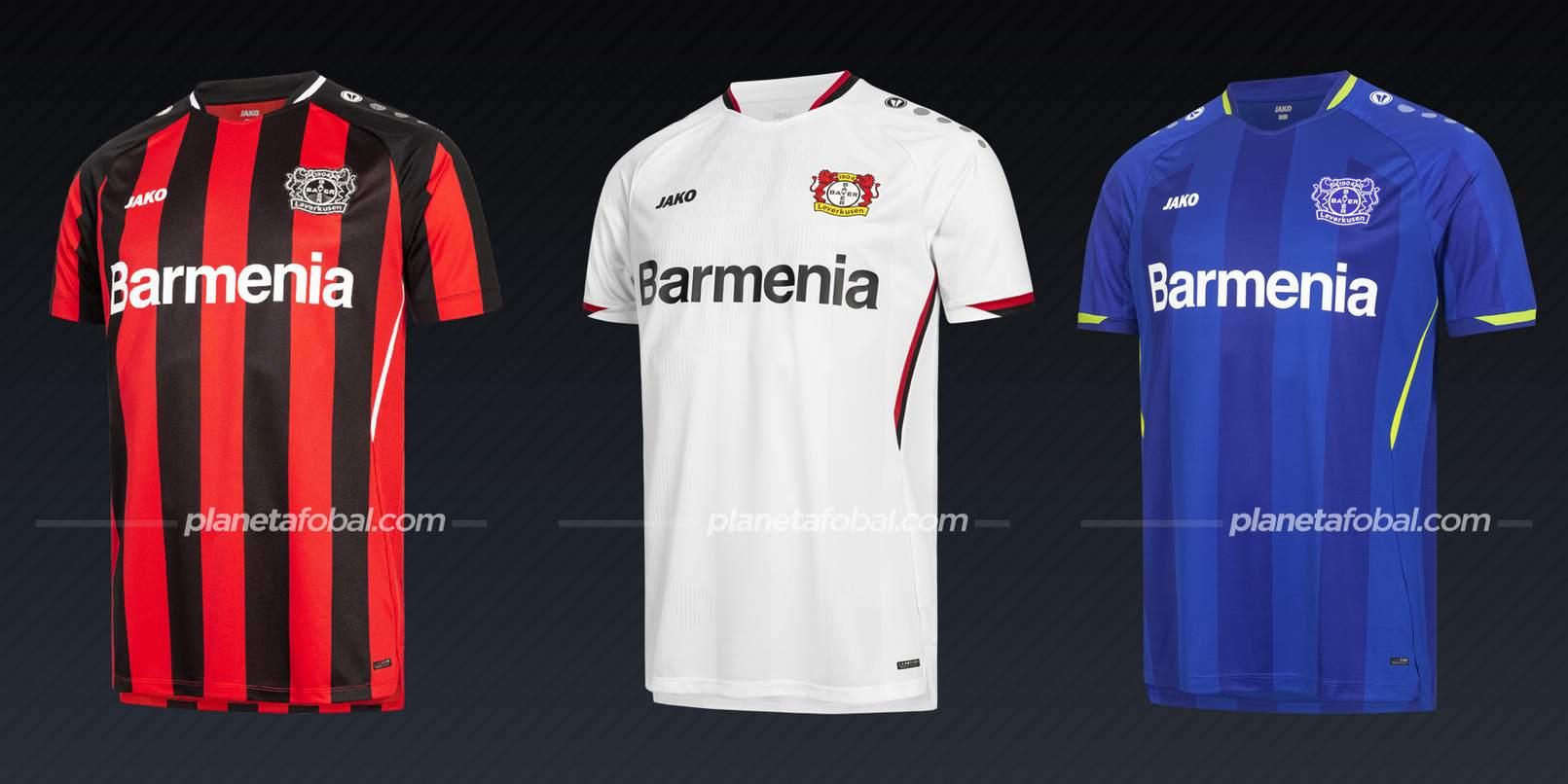 Bayer 04 Leverkusen (Jako)   Camisetas Bundesliga 2021-22